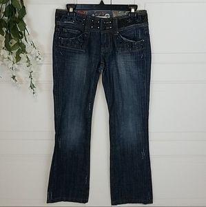Vigoss Gold Gem Embellished Jeans